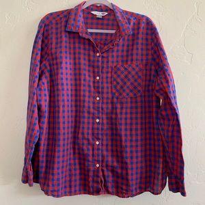 """Old Navy """"The Classic Shirt"""" Plaid Shirt"""